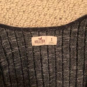Hollister crop v neck wrap shirt